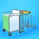 Stationswagen aus Edelstahl mit koppelbarem Wäschesammler (frei Haus)