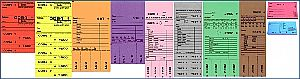 Hydrofixartikel Kombikarten, Blocks, Fleckenzettel (Blocks in allen 11 Farben lieferbar auch mit Firmendruck !)