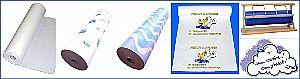 Papier, Einwickelpapier mit Druck, Papierabreißer
