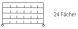 Sortierregalwagen incl. Etikettenrahmen 24 Fächer 290x340 mm, mit 5 Böden