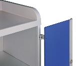 Aufpreis anscharnierte Türen Kombiwagen  B  blaue Kunsststofftüren (1190mm)