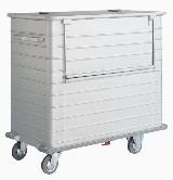 Leichtmetall-Entsorgungswagen 4500-2 1400x750x1345 mm Graugummi-Abweisrahmen