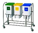 3 -fach Sammler Deckel u. Behälter incl. 3 Behälter