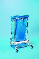 Abfallsammler mit Klemmring 70 Liter 4 Lenkrollen 2 davon mit Stopp